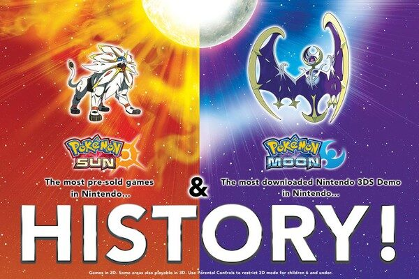 Pokémon Sun & Moon Games Are Best Pre-Selling Games in Nintendo History