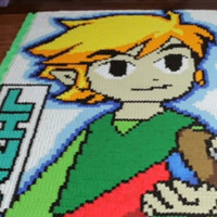 "See ""The Legend of Zelda: The Wind Waker"" Recreated in Domino Form"