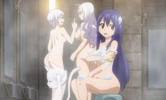 Fairy Tail Naughty Bathing OAD