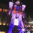Tokyo's Life-Sized Gundam Rings in the Holidays with Dazzling Light Show