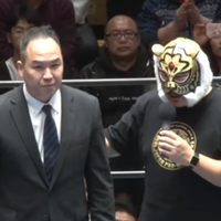 "Charity Worker Operating Under the Name ""Tiger Mask"" Makes Public Appearance"