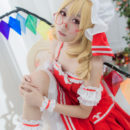 Sharp-Eyed Flandre Scarlet Cosplay Highly Sophisticated
