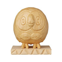 Pokémon Center Sapporo Offers Carved Wooden Rowlet, Ursaring, and Magikarp Figurines