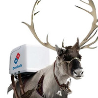 Domino's Pizza Japan Rolls out Reindeer Scooters for Christmas