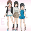 "Meet Three Heroines Introduced in TV Anime ""One Room"" 1st PV"
