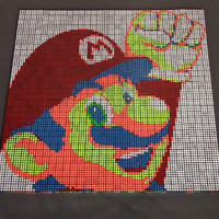 Check Out This Amazing Mario-Themed Stop-Motion Made With Rubik's Cubes