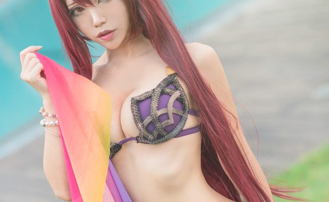 Scorching Hot Scathach Bikini Cosplay by HedY