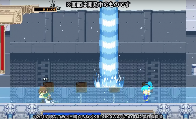 KonoSuba 2 BD Boasts Megaman Parody Game