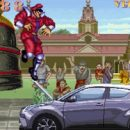 """Car Rips Through """"Street Fighter II"""" to Beat Up M. Bison in Toyota Ad"""