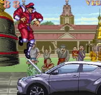 "Car Rips Through ""Street Fighter II"" to Beat Up M. Bison in Toyota Ad"