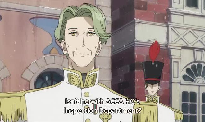ACCA: 13-ku Kansatsu-ka Ep. 7 is now available in OS.