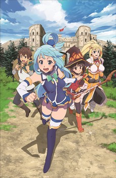 KonoSuba 2 Anime Gets PC Game With 1st BD/DVD Volume in March