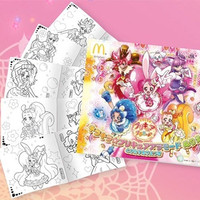 "McDonald's Japan Offers ""KiraKira PreCure"" Happy Meal with Character Coloring Sheets"