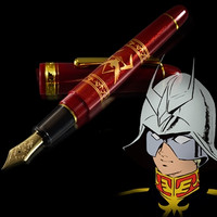 """Red Comet"" Char Aznable Custom Fountain Pen Previewed in Video"