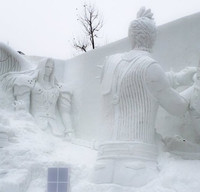 Cloud and Sephiroth Battle Again in Sapporo Snow Festival Sculpture
