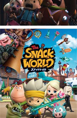 Snack World Reveals TV Anime's April 13 Premiere, Game Release Dates