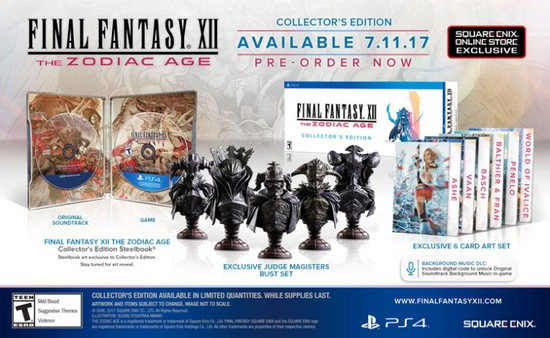 Final Fantasy XII The Zodiac Age PS4 Remaster Ships With Collector's, Limited Editions