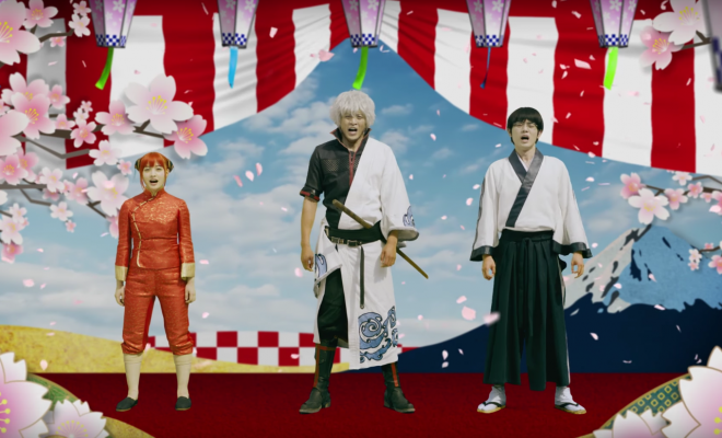 "Gintama Live Action Actors: ""Seasons Greetings"""