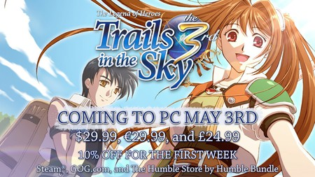 XSEED Reveals The Legend of Heroes: Trails in the Sky the 3rd PC Release on May 3, Trails of Cold Steel PC Release