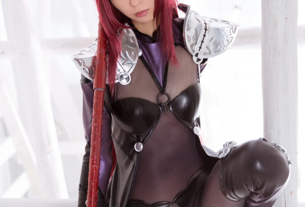 Supple Scathach Cosplay Works the Pole