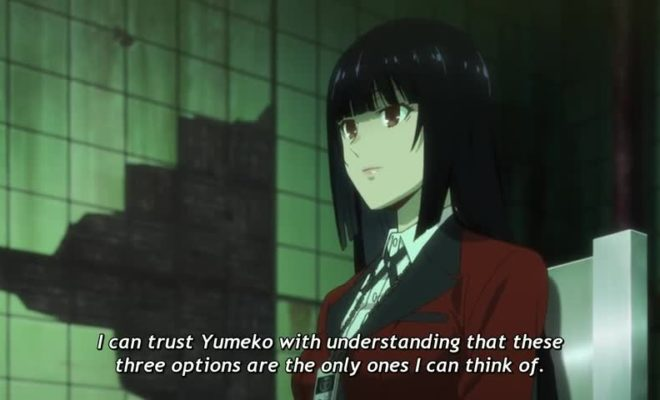 Kakegurui Ep. 7 is now available in OS.