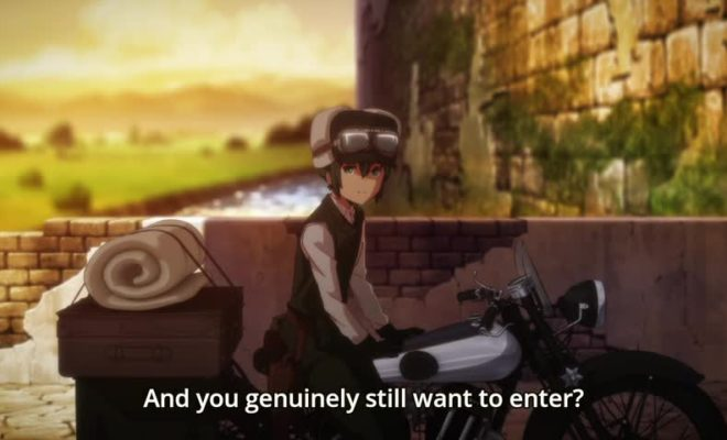 Kino no Tabi: The Beautiful World - The Animated Series Ep. 1 is now available in OS.