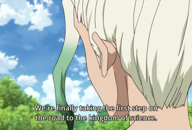 Dr. Stone Ep. 8 is now available in OS.