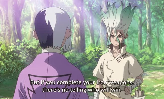 Dr. Stone Ep. 9 is now available in OS.